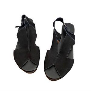 Arche Platform Suede Slingback Comfort Sandals